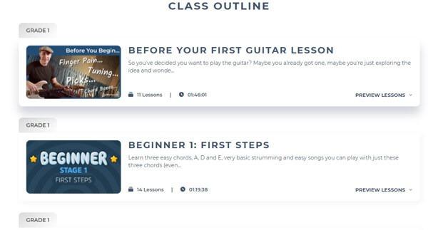 برنامه Justin Guitar Beginner Lessons